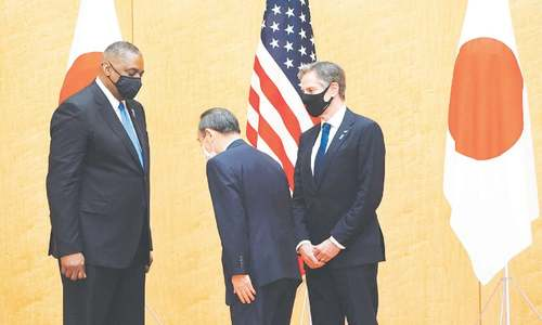 US, Japan warn China on 'coercion, destabilising behaviour'