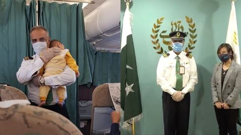 PIA crew member honoured by UN after video of him soothing a baby goes viral