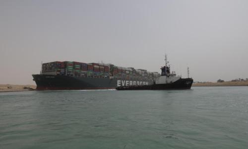 Egypt shuts Suez Canal amid struggle to refloat grounded megaship