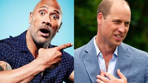 Prince William just got voted the sexiest bald man alive and Dwayne Johnson wants a recount