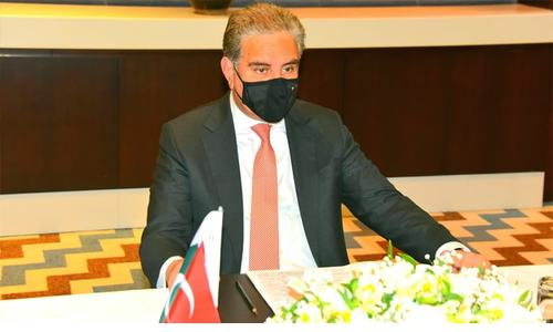 Qureshi meets Turkish FM, stresses need for comprehensive political settlement in Afghanistan