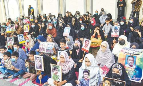 Families of 'missing persons' narrate ordeal at protest sit-in