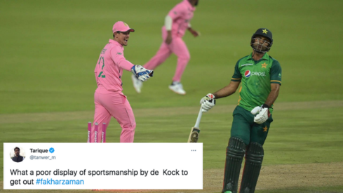 Was Fakhar Zaman 'cheated' by Quinton DeKock? Twitterati seem to think so
