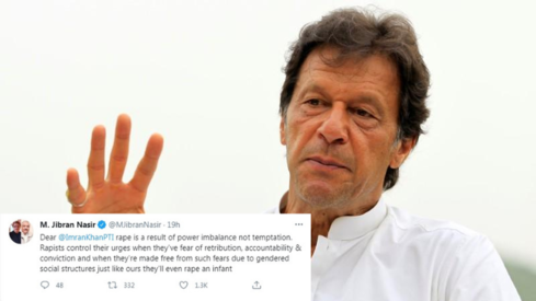 Twitter takes on Prime Minister Imran Khan's meditations on rape and vulgarity