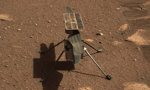 Helicopter survives first night alone on Mars