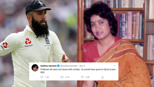Taslima Nasreen's bigoted ISIS remark directed at Moeen Ali cannot be brushed off as 'sarcasm'