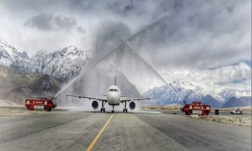 First PIA flight from Lahore lands at Skardu Airport