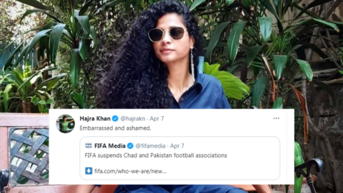 Footballer Hajra Khan appeals to PM Imran Khan to do something about FIFA ban