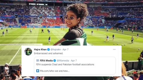 Footballer Hajra Khan appeals to Imran Khan to do something about FIFA ban