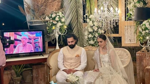 Jibran Nasir and Mansha Pasha tie the knot