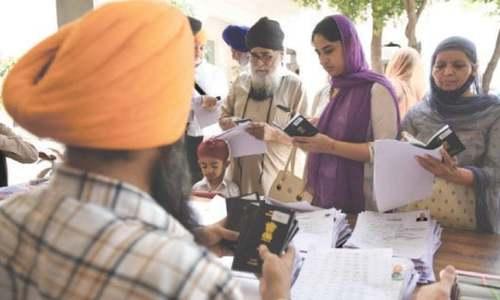 بیساکھی میلے میں شرکت کیلئے ایک ہزار 100 سے زائد سکھ یاتریوں کو ویزے جاری