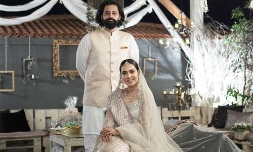 منشا پاشا اور جبران ناصر نے شادی کی تصاویر و ویڈیو جاری کردیں