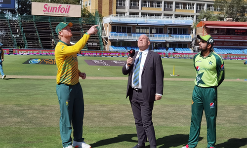 دوسرا ٹی20: پاکستان کی جنوبی افریقہ کے خلاف ٹاس جیت کر بیٹنگ