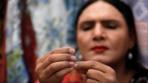 Transgender woman finds a niche in tailoring in Karachi