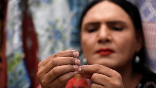 Transgender woman finds a niche in tailoring in Karachi