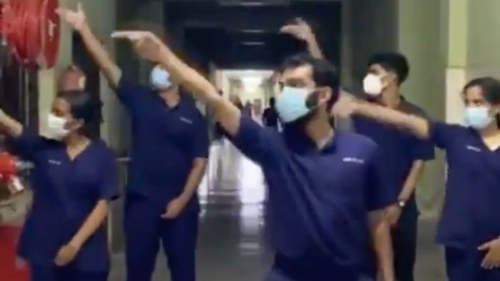 This team of Indian doctors made us smile with their 'public service' dance