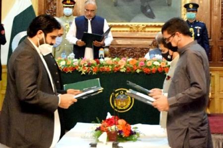 Atif among four sworn in as ministers in KP