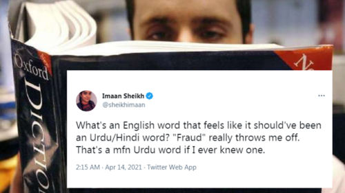 What's the most Urdu English word you know? Twitter's got a few