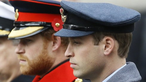 Princes William, Harry won't walk side-by-side at grandfather's funeral