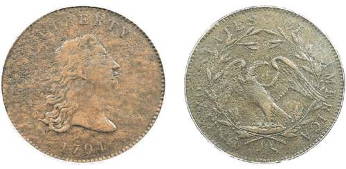 Prototype of first US dollar coins go up for auction today