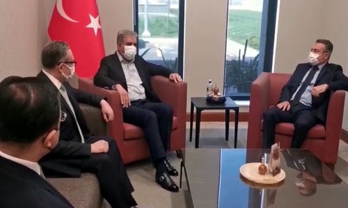 FM Qureshi arrives in Istanbul on two-day official visit