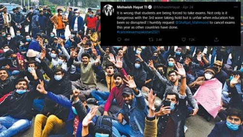 Mehwish Hayat and Ali Zafar speak up for Pakistan's students and urge govt to cancel exams