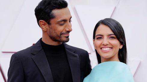 Riz Ahmed fixing his wife's hair on the red carpet wins the real Oscar, according to fans