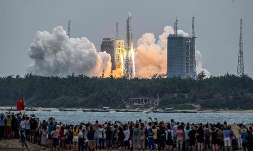 China launches first module of space station Heavenly Palace