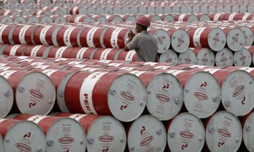 Oil sales jump 57pc in April