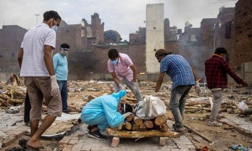 بھارت میں کورونا وائرس سے ایک روز میں ریکارڈ 3 ہزار 780 اموات
