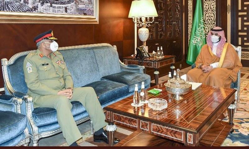 آرمی چیف کی سعودی ولی عہد سے ملاقات، حرمین شریفین کے دفاع کے عزم کا اعادہ