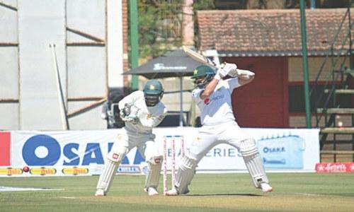 Zimbabwe claw back after Azhar, Abid strike tons