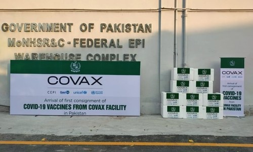 Pakistan receives first batch of 1.2m AstraZeneca doses via Covax facility