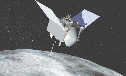 Spacecraft starts return to Earth after collecting asteroid samples