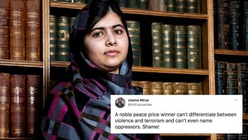 People are furious with Malala for calling attacks on Palestinians a 'conflict'