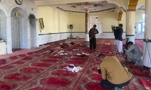 12 killed in explosion at Kabul mosque during Friday prayers
