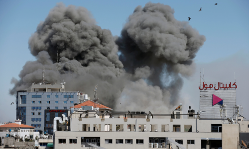Israeli air strike destroys Gaza tower housing AP, Al Jazeera offices