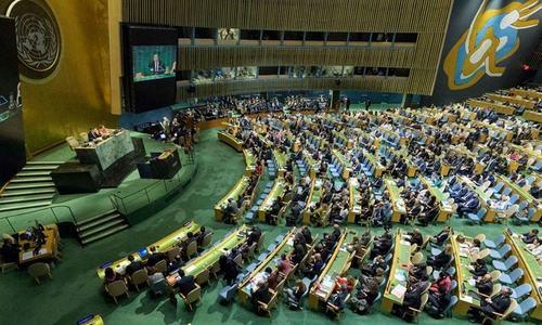 فلسطین پر اسرائیلی حملے، اقوام متحدہ کی جنرل اسمبلی کا اجلاس طلب