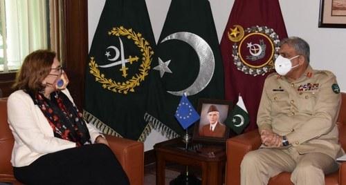پاکستان یورپی یونین کے ساتھ مضبوط تعلقات کا خواہاں ہے، جنرل قمر جاوید باجوہ