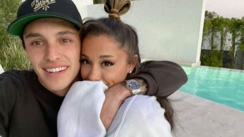 Singer Ariana Grande just tied the knot at her home in California