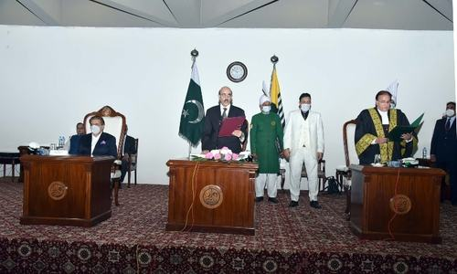 Justice Saeed takes oath as AJK CJ