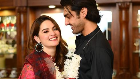 Ahsan Mohsin Ikram and Minal Khan are officially engaged