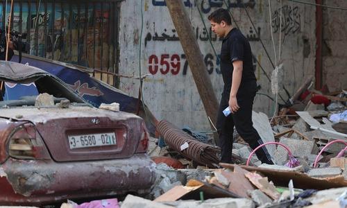 Israeli airstrikes kill 6, level large family home in Gaza