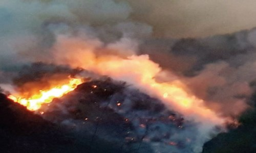 Fire in Swabi mountains put out after 15 hours