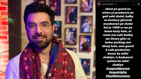 Yasir Hussain uses Karachi drama set shooting to highlight poor treatment of production crews