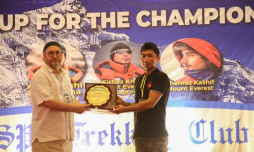 Climbers Sirbaz and Shehroz honoured in Swat