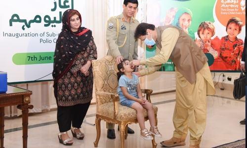 PM inaugurates polio vaccination campaign