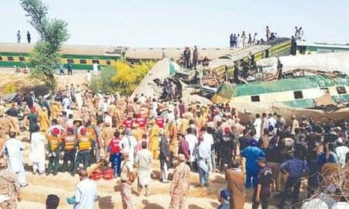 55 perish as trains collide in Sindh's Ghotki district