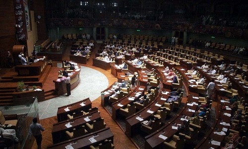 Sindh Assembly passes bill for welfare of police martyrs' families amidst opposition protest
