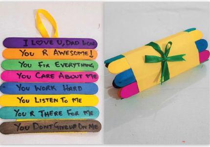 Wonder Craft: Folding craft stick memorial
